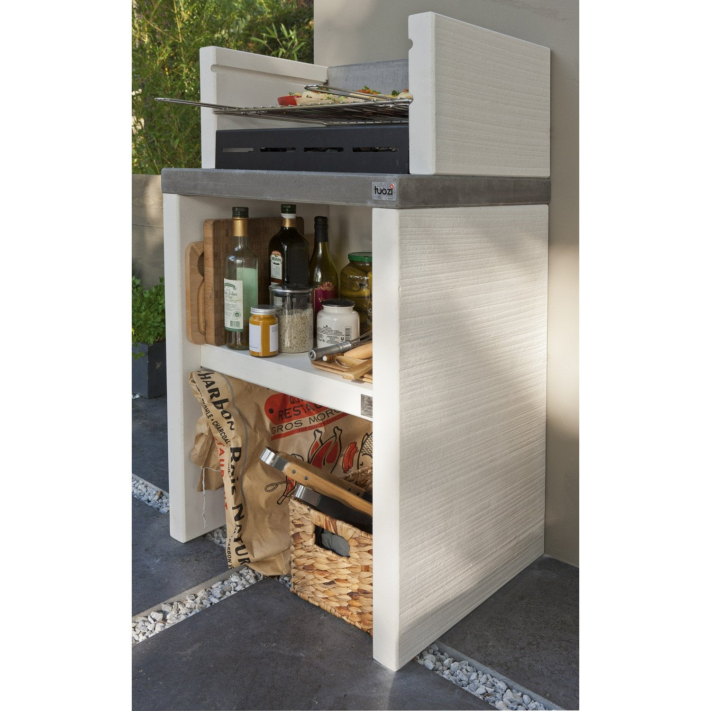barbecue en b ton blanc cass x x cm. Black Bedroom Furniture Sets. Home Design Ideas