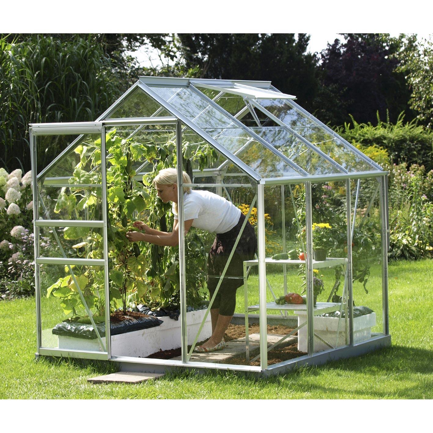 serre venus 3800 en verre horticole m leroy merlin. Black Bedroom Furniture Sets. Home Design Ideas