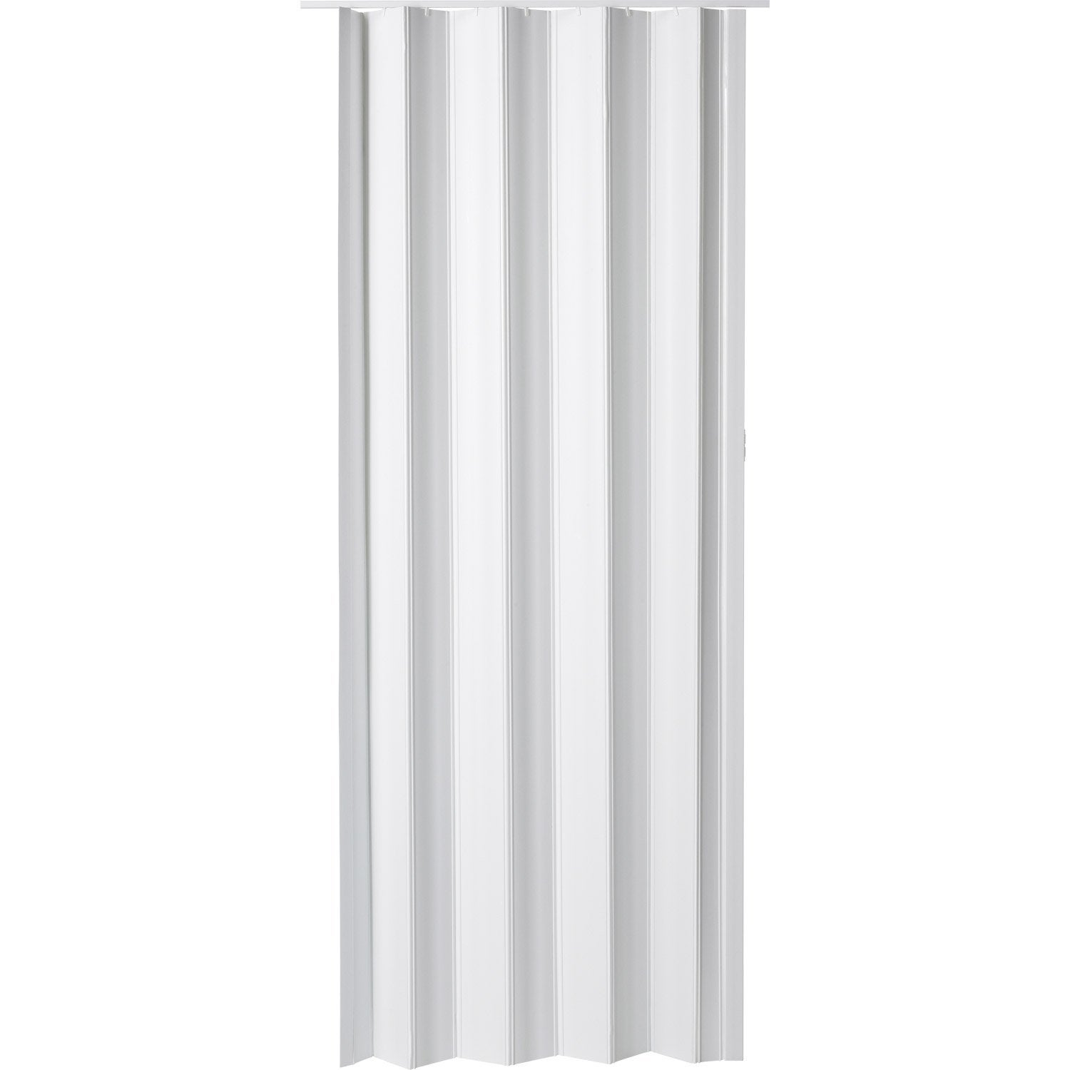 Porte accord on eco en r sine de synth se blanc 203 x 85 cm leroy merlin - Portes accordeons leroy merlin ...