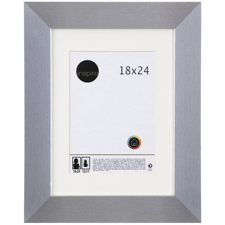 cadre stockton 18 x 24 cm argent leroy merlin. Black Bedroom Furniture Sets. Home Design Ideas