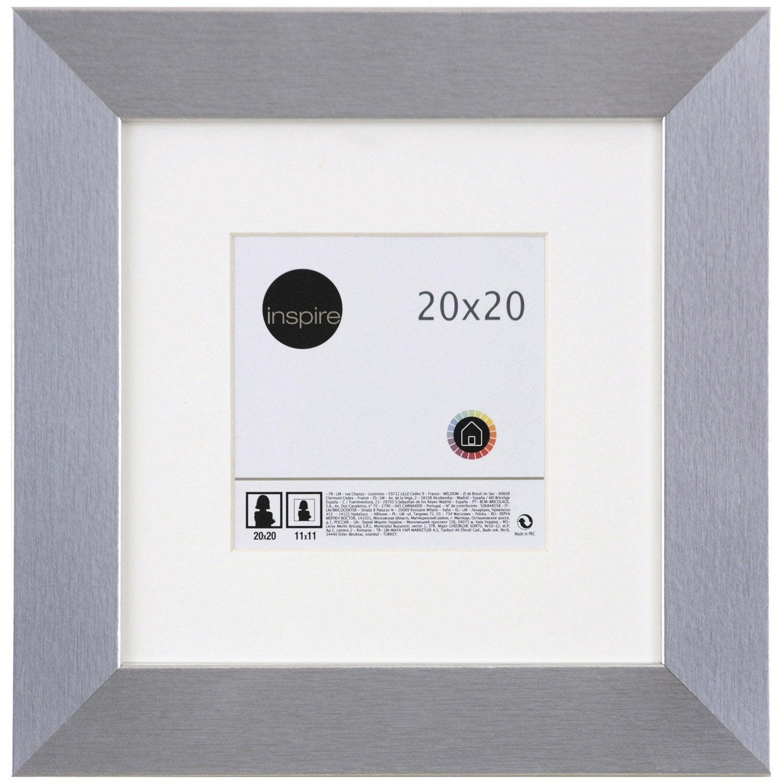 cadre stockton 20 x 20 cm argent leroy merlin. Black Bedroom Furniture Sets. Home Design Ideas