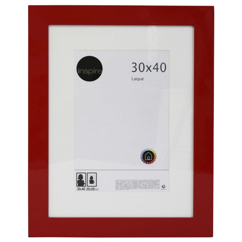 cadre laqu 30 x 40 cm rouge leroy merlin. Black Bedroom Furniture Sets. Home Design Ideas