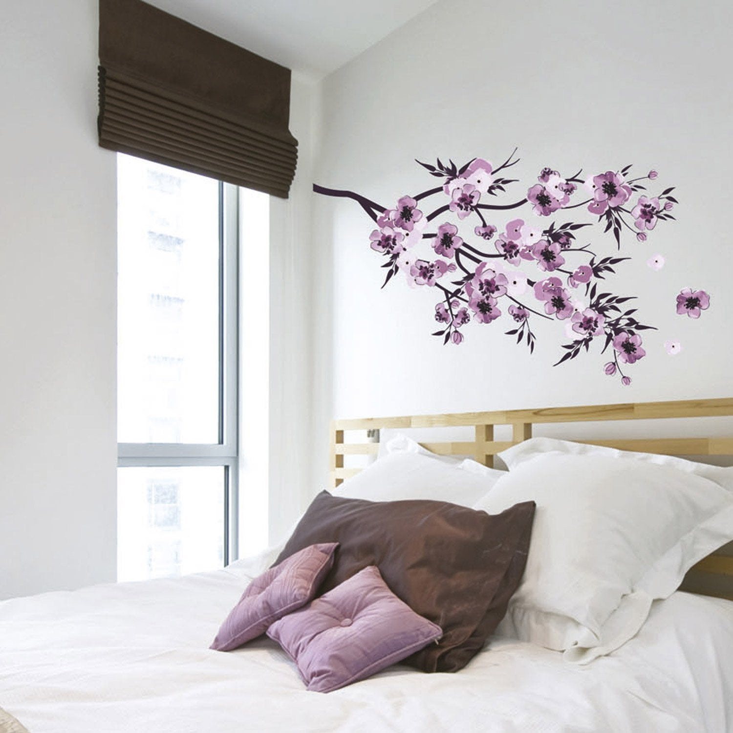 sticker fleurs aquarelle 50 cm x 70 cm leroy merlin. Black Bedroom Furniture Sets. Home Design Ideas