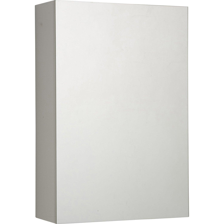 Armoire de toilette non lumineuse modulo 40 sensea l 40 x - Toilette leroy merlin ...