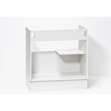 Caisson de cuisine sous vier se80 delinia blanc l80 x h85 - Leroy merlin meuble sous evier ...