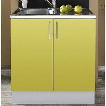 caisson de cuisine sous vier se80 delinia blanc l80 x h85 x p57 6 cm leroy merlin. Black Bedroom Furniture Sets. Home Design Ideas