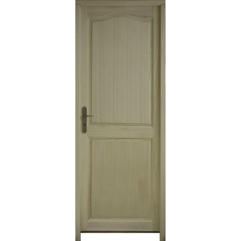 bloc porte prague pleine poussant droit 204 x 73 cm. Black Bedroom Furniture Sets. Home Design Ideas