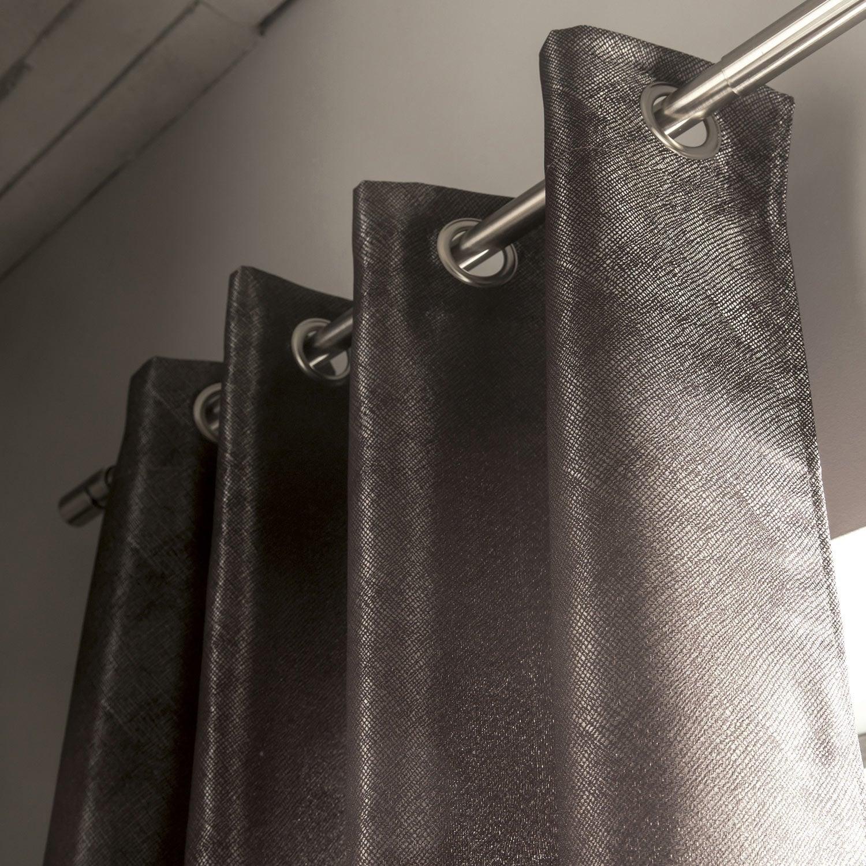rideau wix argent x cm leroy merlin. Black Bedroom Furniture Sets. Home Design Ideas