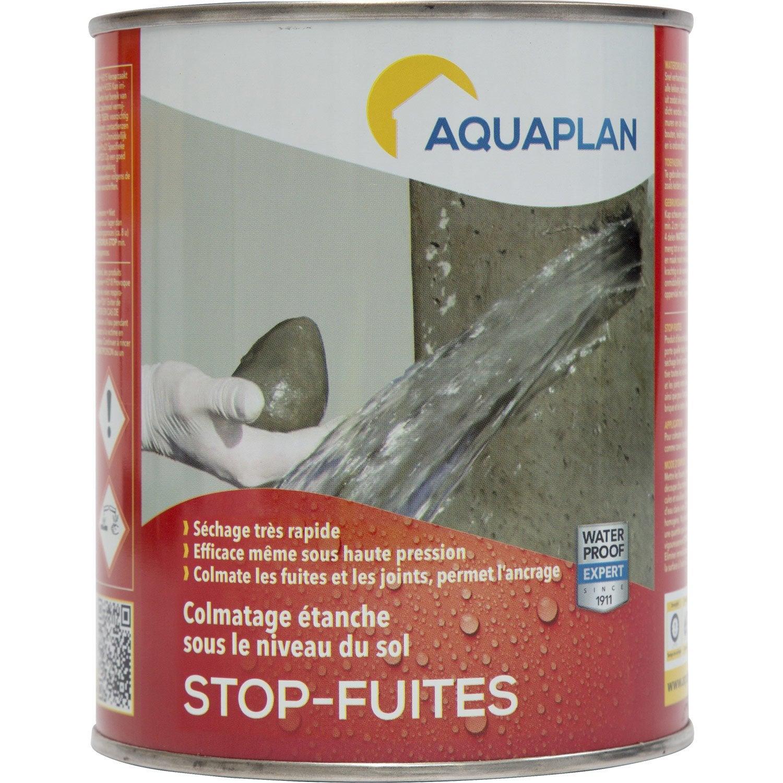 Mortier stop fuite iko stop fuites 1 kg gris leroy merlin for Mortier hydrofuge leroy merlin