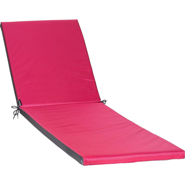 coussin de bain de soleil rose pratik jardin prive leroy merlin. Black Bedroom Furniture Sets. Home Design Ideas