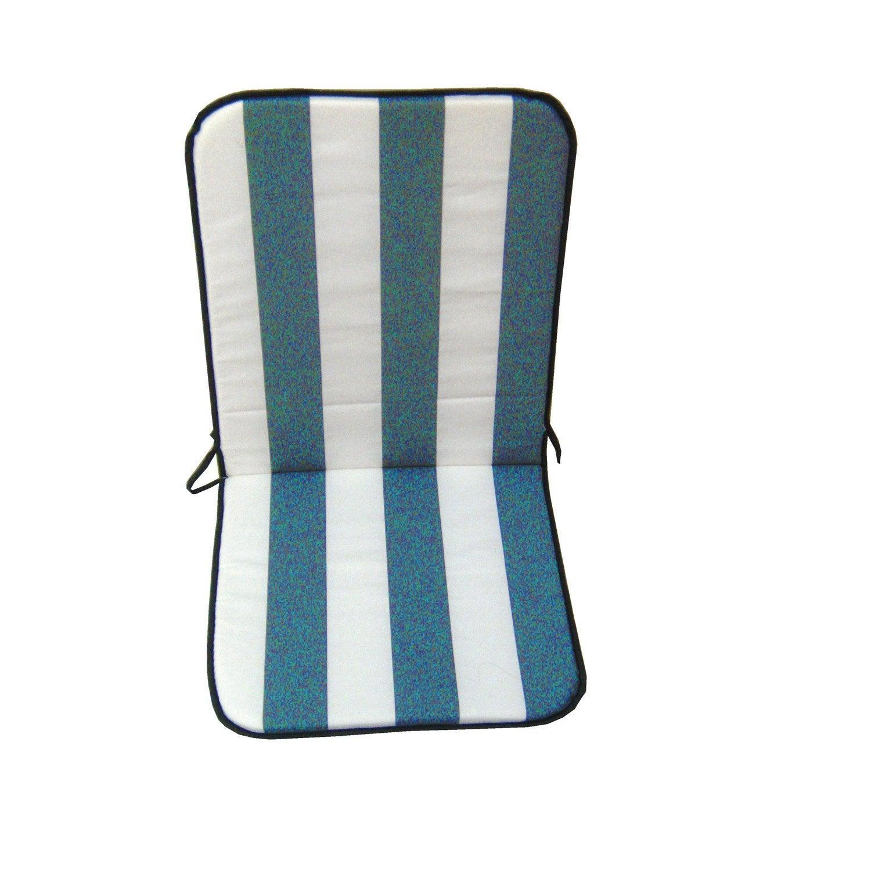 coussin d 39 assise et dossier de chaise ou de fauteuil bleu evy jardin prive leroy merlin. Black Bedroom Furniture Sets. Home Design Ideas