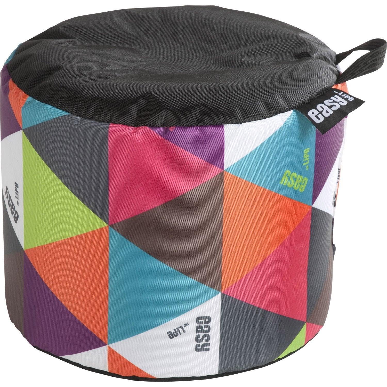 pouf de sol multicolore mini curl jardin prive leroy merlin. Black Bedroom Furniture Sets. Home Design Ideas