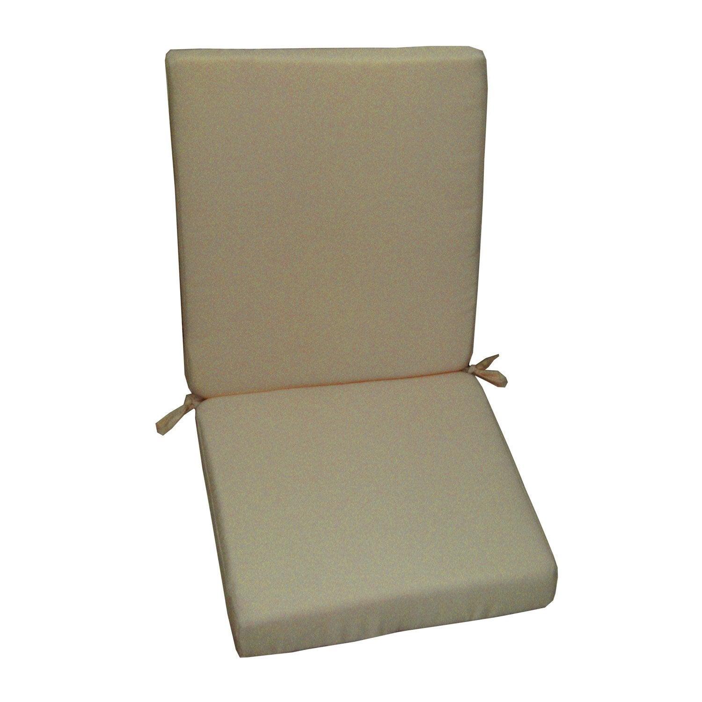 Coussin d 39 assise de chaise ou de fauteuil gris dor lola naterial leroy - Leroy merlin coussin ...