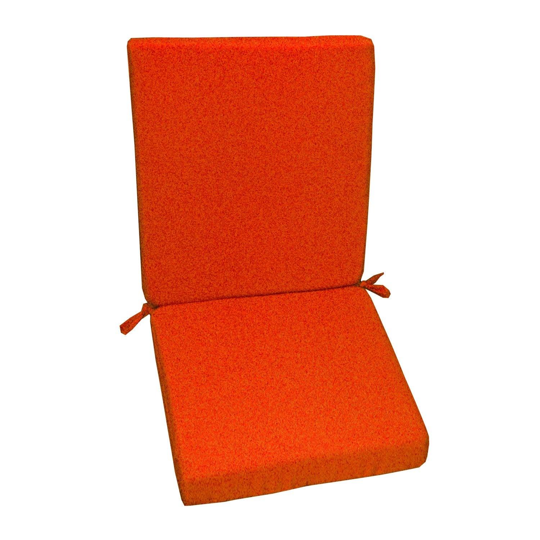 Coussin d 39 assise de chaise ou de fauteuil orange lola - Mousse pour chaise leroy merlin ...