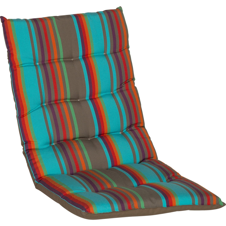 Coussin d 39 assise et dossier chaise ou de fauteuil - Coussin pour mobilier de jardin ...