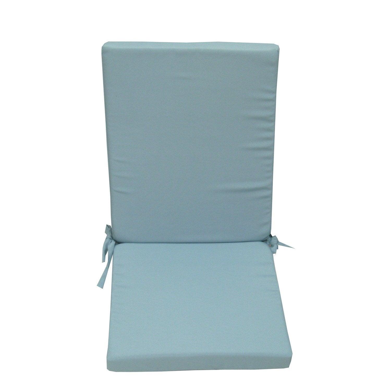Coussin d 39 assise de chaise ou de fauteuil bleu lola leroy merlin - Leroy merlin coussin ...