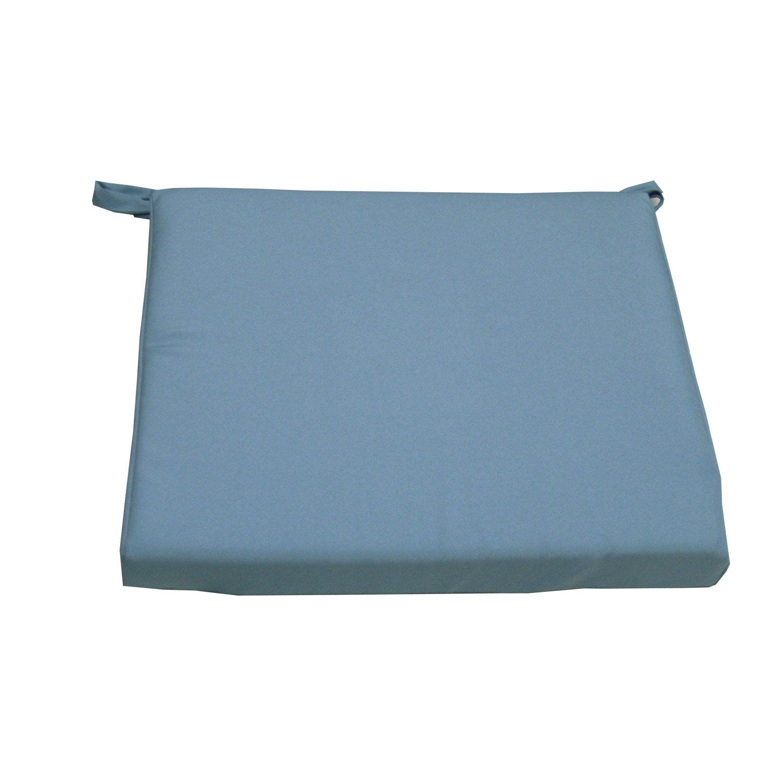 coussin d 39 assise de chaise ou de fauteuil bleu lola. Black Bedroom Furniture Sets. Home Design Ideas