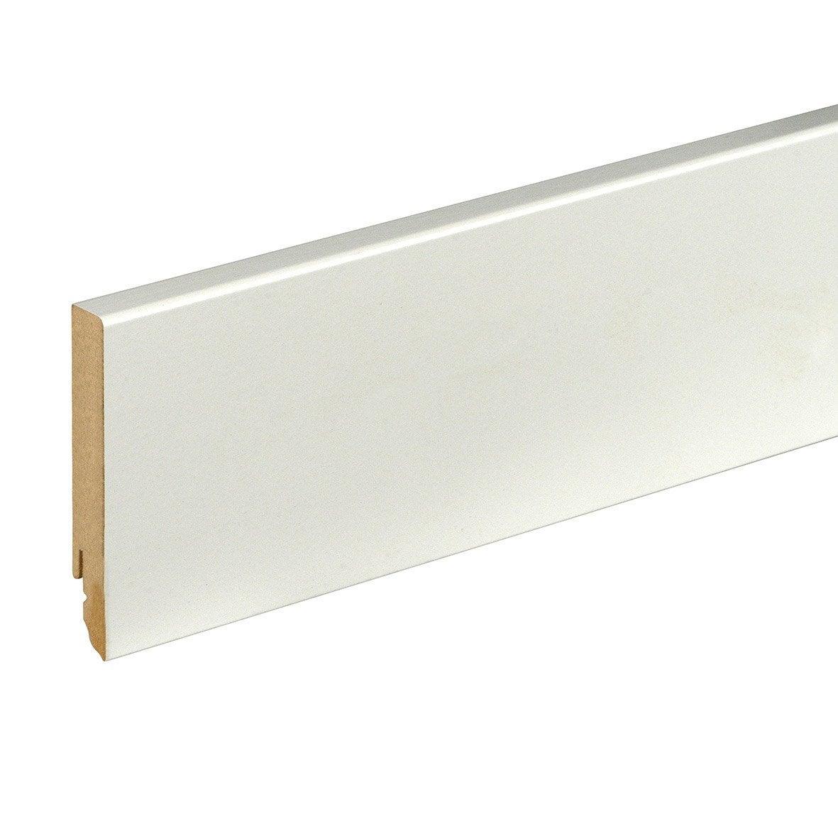 plinthe mdf brut pour rail led 16x90mm l 2m40 leroy merlin. Black Bedroom Furniture Sets. Home Design Ideas