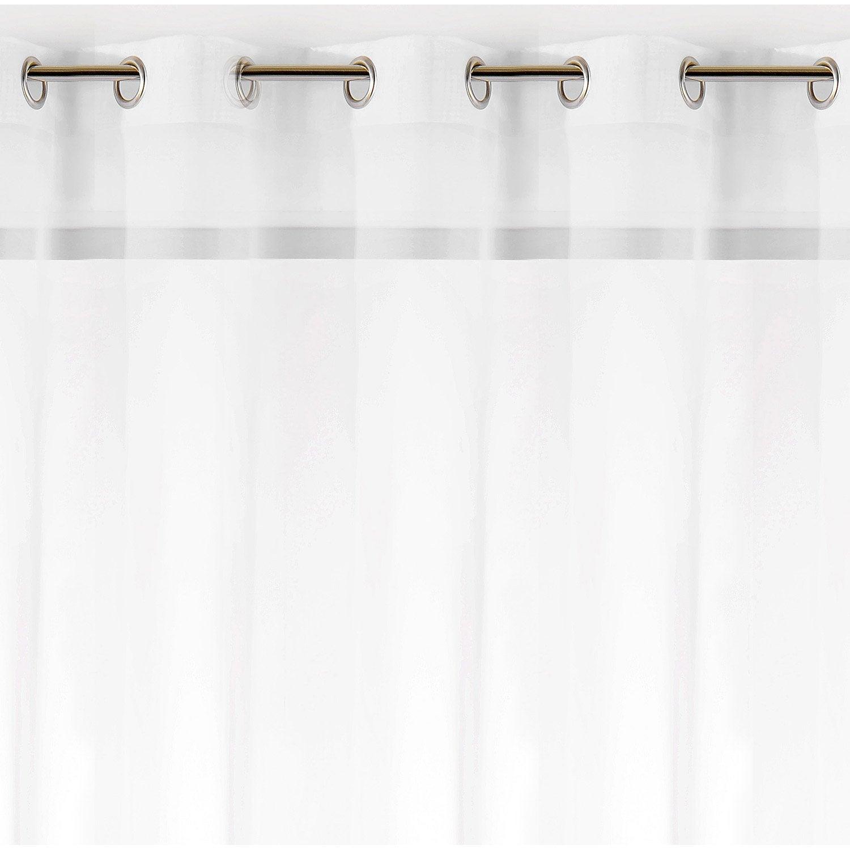 voilage tamisant grande largeur plein jour blanc. Black Bedroom Furniture Sets. Home Design Ideas