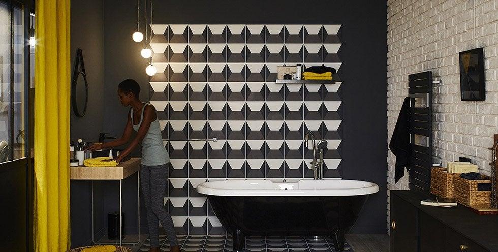 Carrelage sol et carrelage mural leroy merlin for Carrelage geometrique