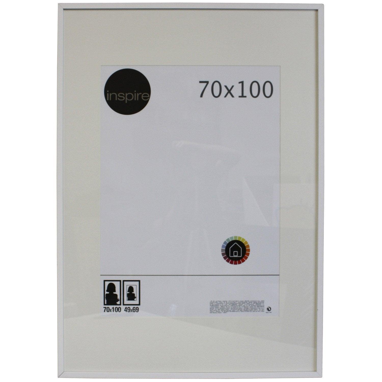 cadre inspire lario 70 x 100 cm blanc blanc n 0 leroy merlin