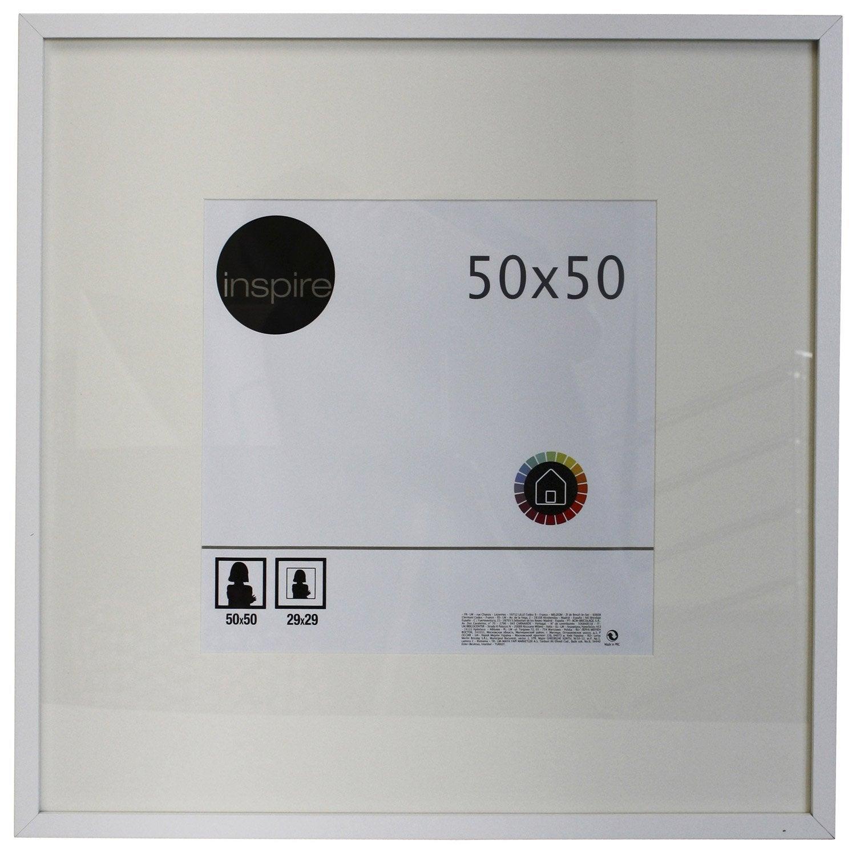 cadre inspire lario 50 x 50 cm blanc blanc n 0 leroy merlin. Black Bedroom Furniture Sets. Home Design Ideas
