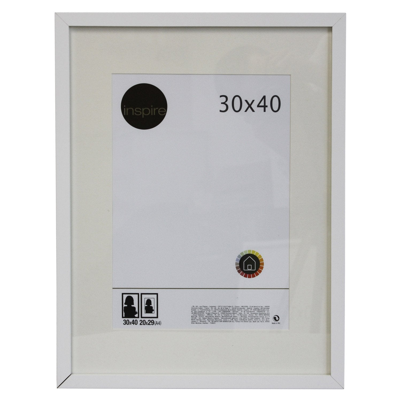 Cadre lario 30 x 40 cm blanc blanc n 0 leroy merlin - Cadre tableau leroy merlin ...