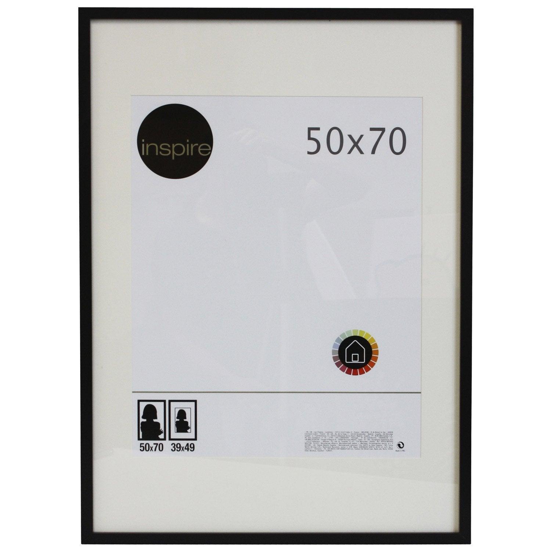 Cadre lario 50 x 70 cm noir noir n 0 leroy merlin for Couchtisch 50 x 70