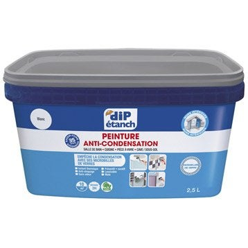 Peinture anti condensation dip blanc 2 5l leroy merlin - Peinture anti eau ...