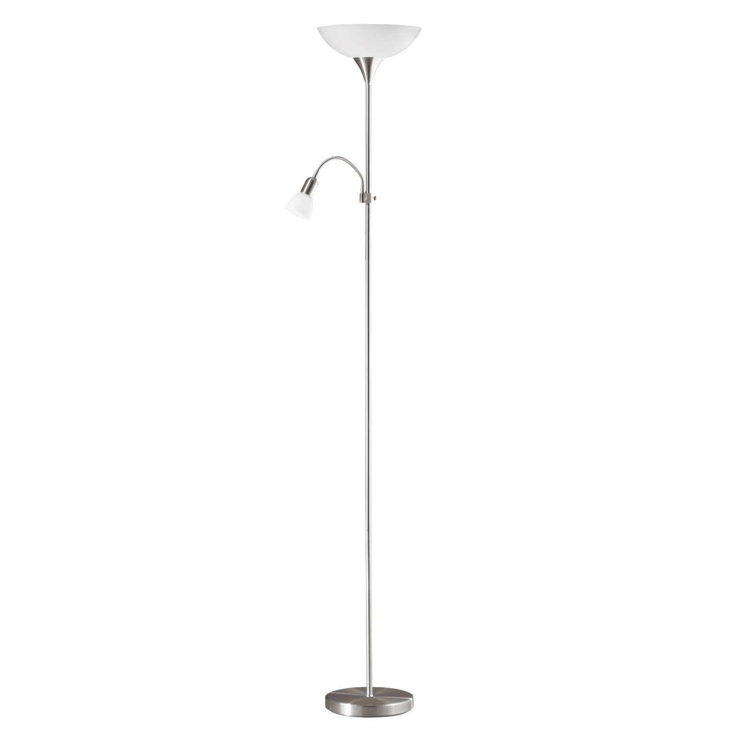 lampadaire avec liseuse up eglo 178 cm blanc 100 w leroy merlin. Black Bedroom Furniture Sets. Home Design Ideas