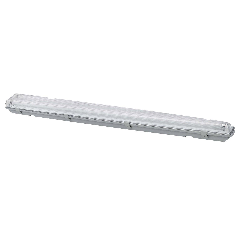 R glette etanche economie d 39 nergie 2 x 36 w g13 leroy for Luminaire exterieur plastique