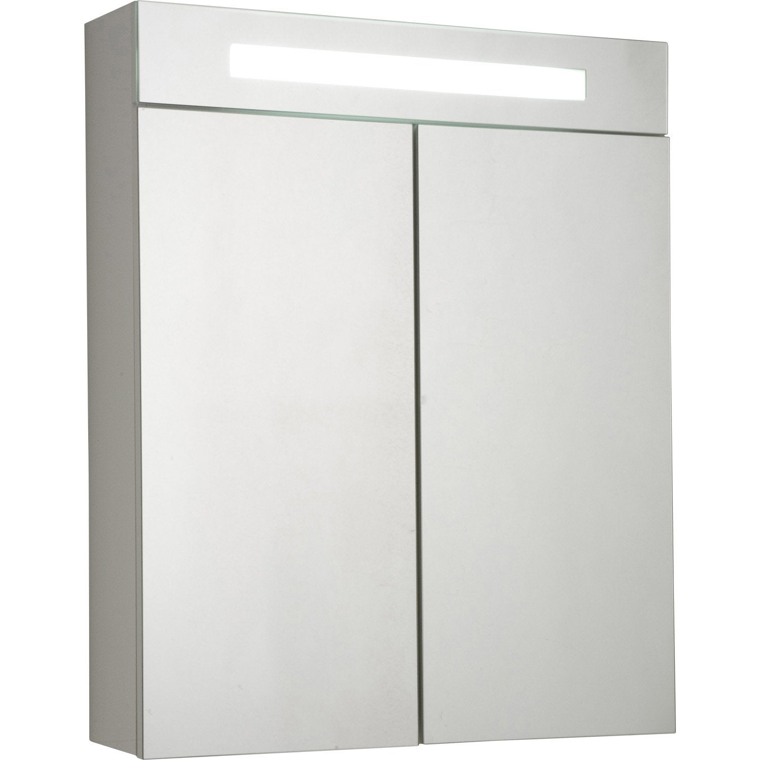 armoire de toilette lumineuse blanc cm sensea telio. Black Bedroom Furniture Sets. Home Design Ideas