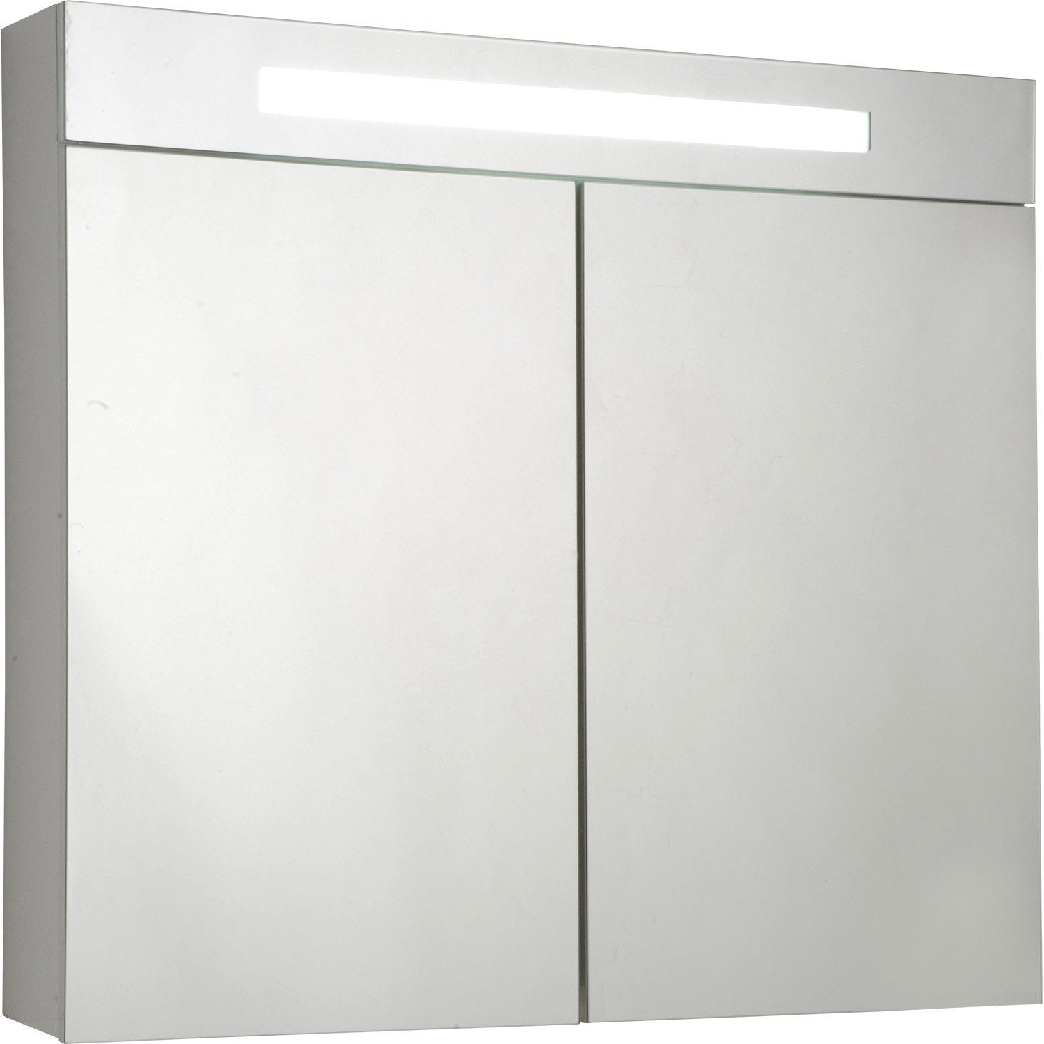 armoire de toilette lumineuse blanc cm sensea telio leroy merlin. Black Bedroom Furniture Sets. Home Design Ideas