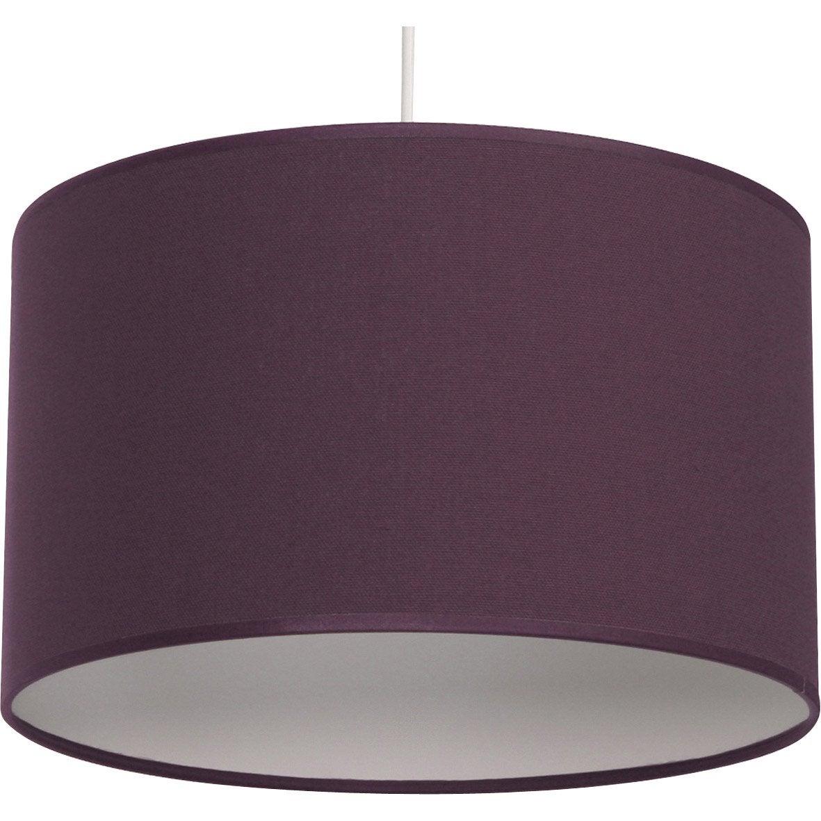 Suspension e27 natt coton violet violet n 2 1 x 60 w inspire leroy merlin - Abat jour suspension leroy merlin ...