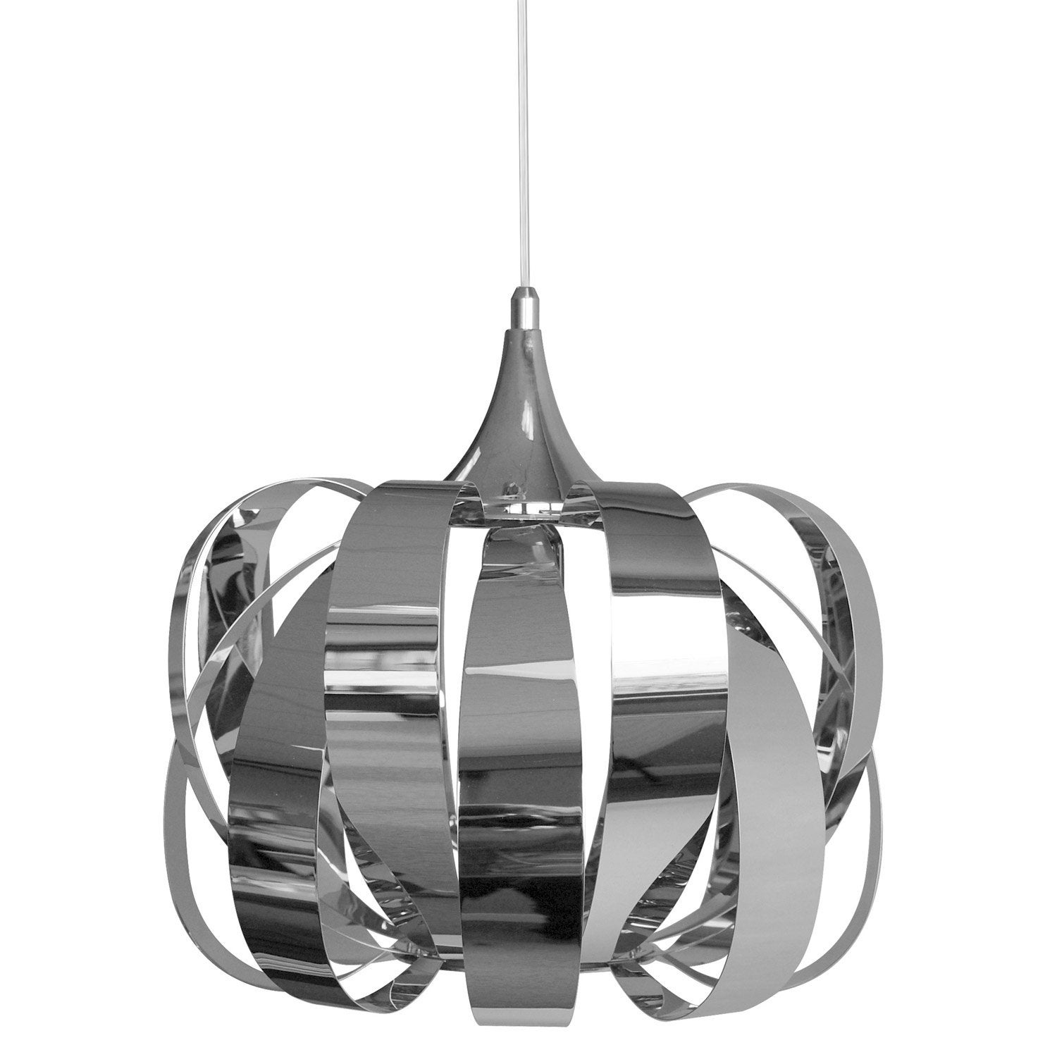 Suspension e27 moderne Eres métal chrome 1 x 40 W SEYNAVE