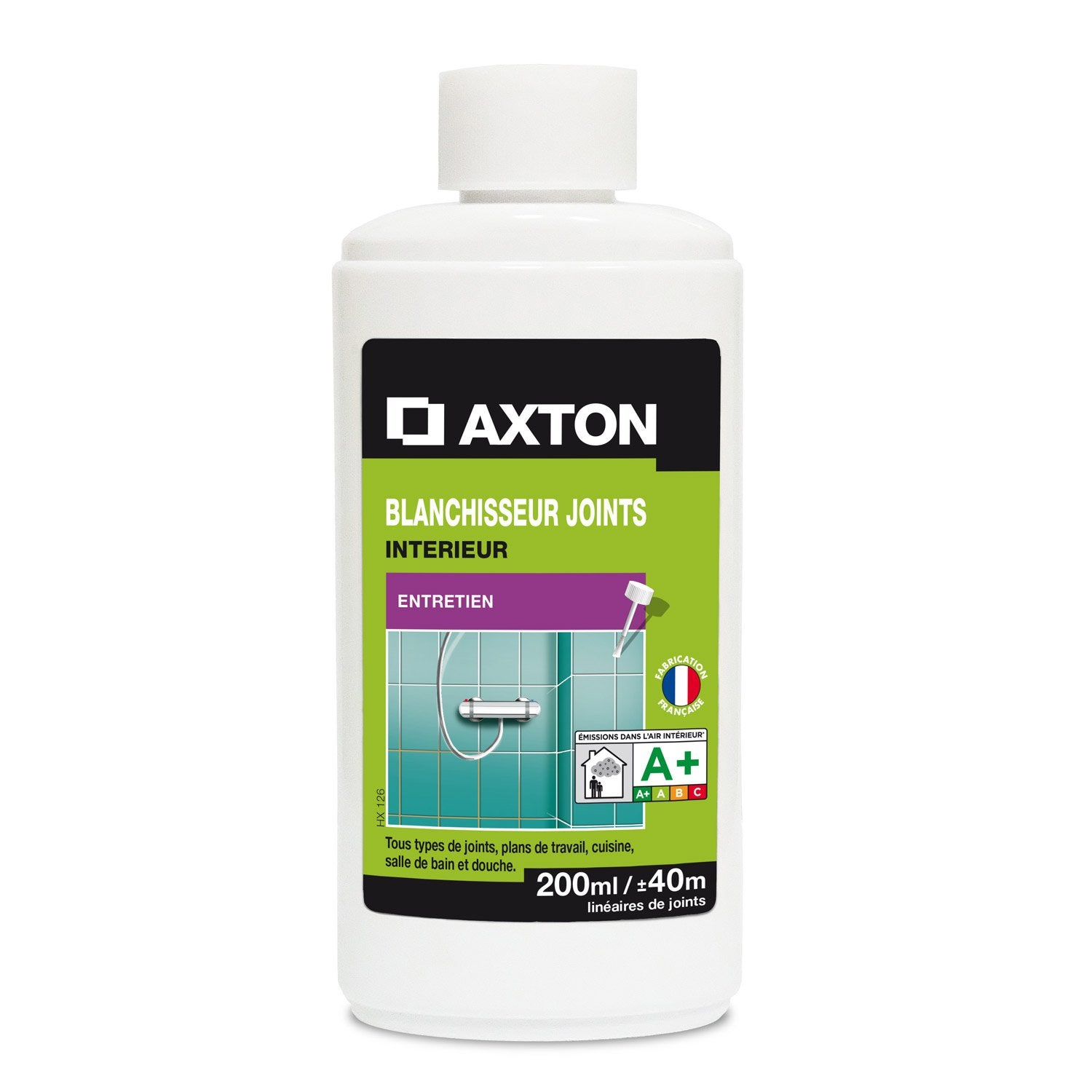 Blanchisseur joints axton 200ml leroy merlin for Impermeabilisant joint carrelage