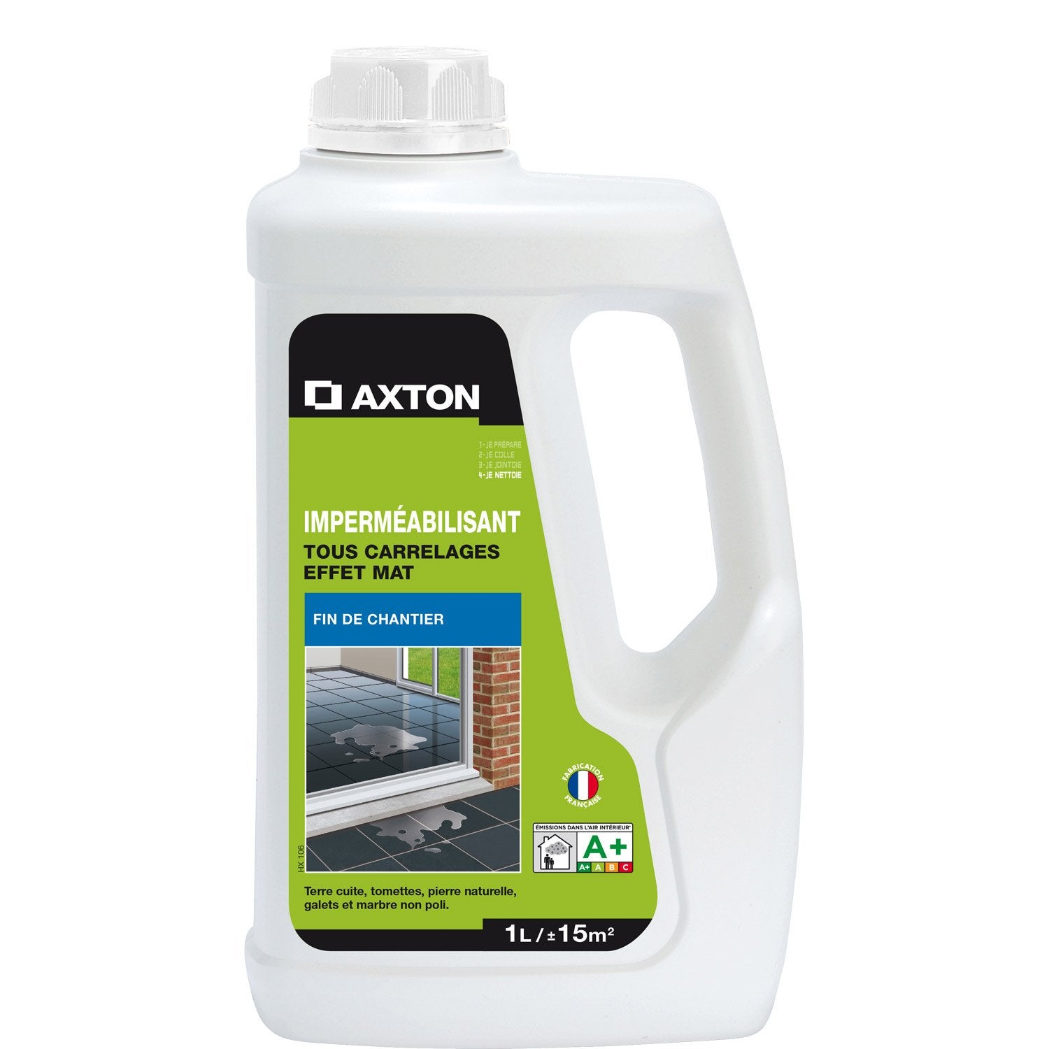 Imperm abilisant hydrofuge tous supports axton 1l for Machine pour nettoyer le carrelage