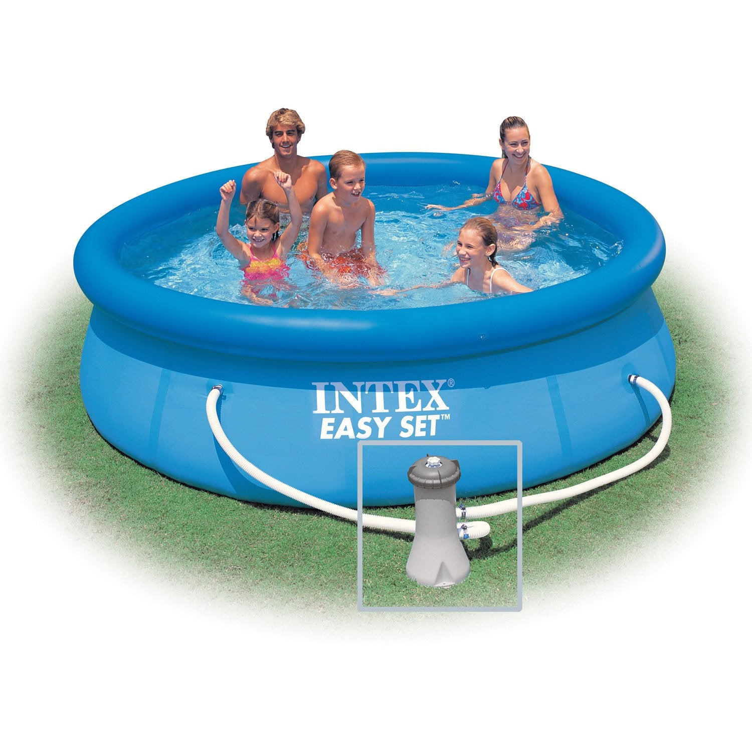 Piscine hors sol autoportante gonflable easy set intex for Piscine gonflable intex ronde