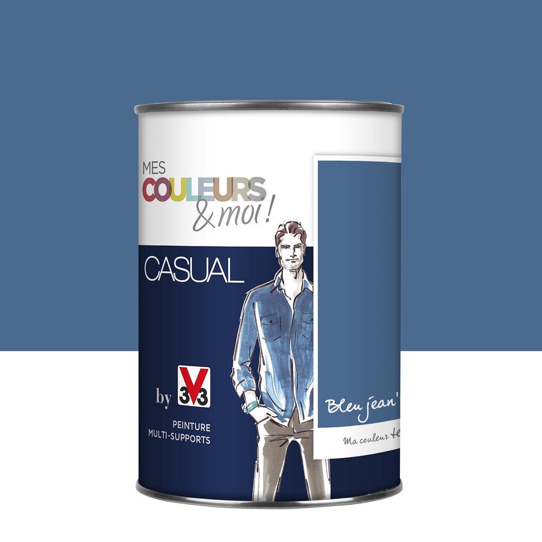 Peinture bleu jean 39 s v33 mes couleurs et moi casual l for Peinture piscine leroy merlin