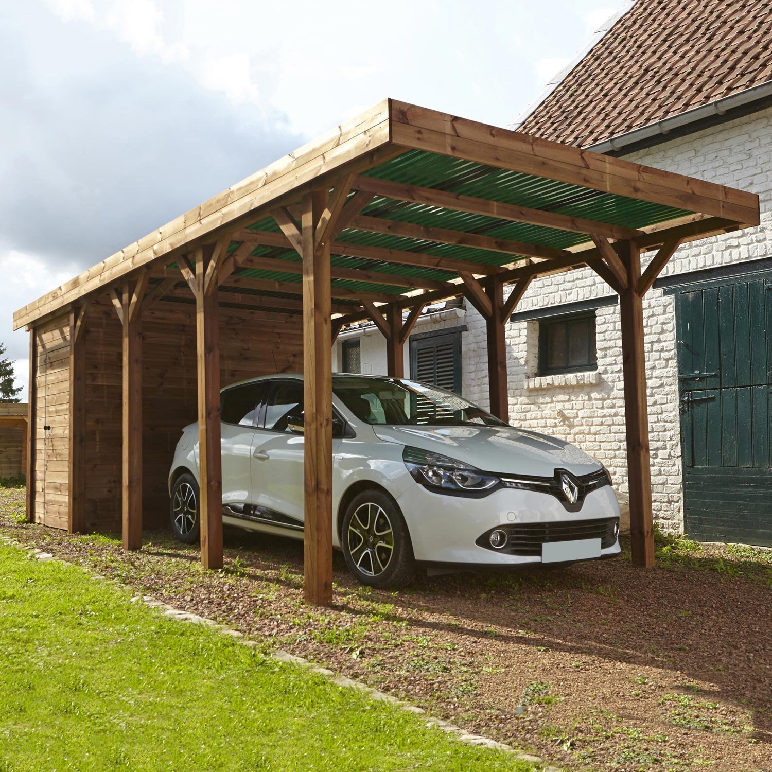 Garage En Bois Leroy Merlin : Carport bois Harry 1 voiture, 17 m? Leroy Merlin