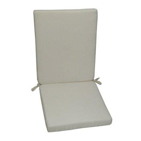 Coussin d 39 assise de chaise ou de fauteuil blanc ivoire - Chaise blanc d ivoire ...
