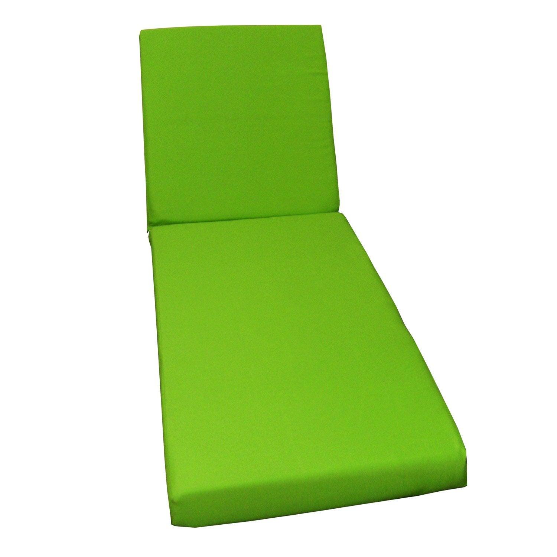 coussin de bain de soleil vert lola leroy merlin. Black Bedroom Furniture Sets. Home Design Ideas