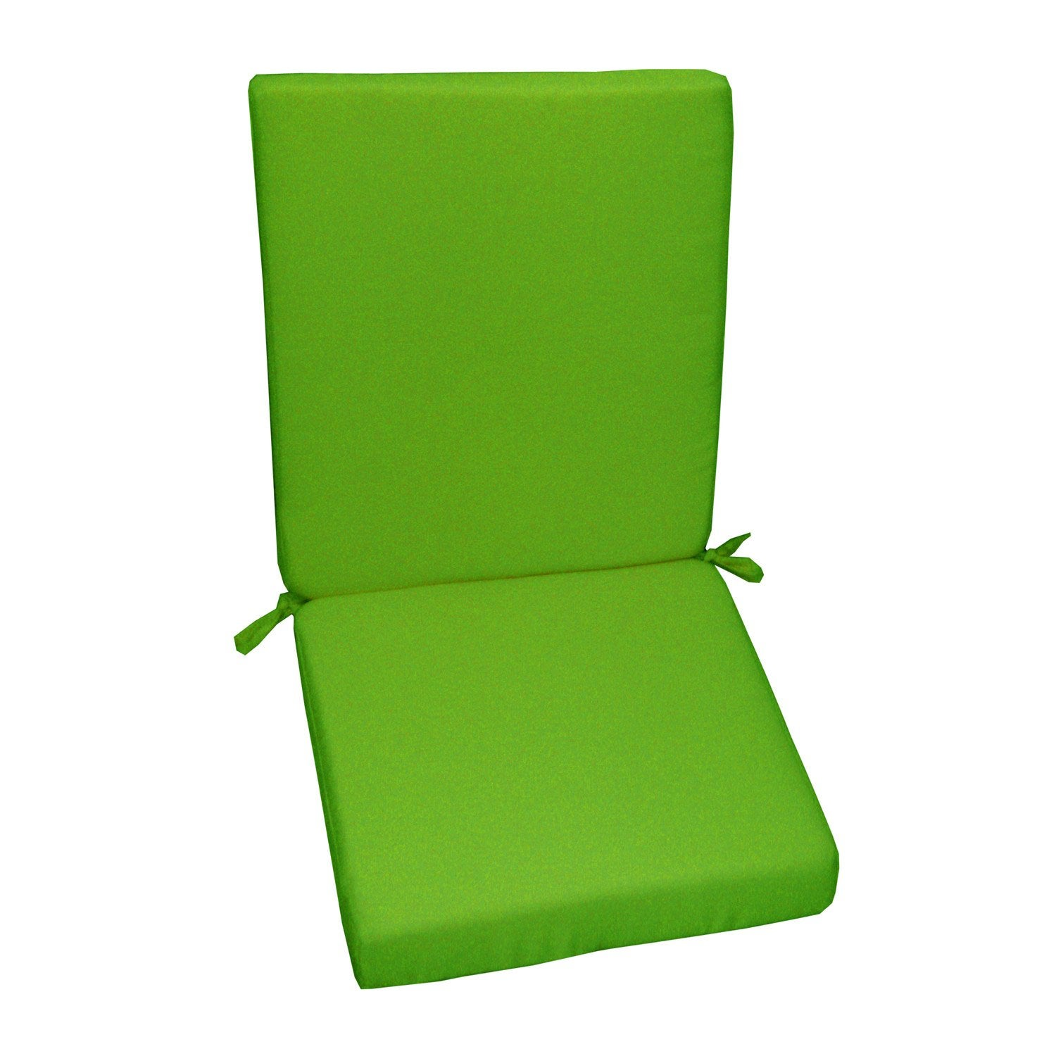 coussin d 39 assise de chaise ou de fauteuil vert lola leroy merlin. Black Bedroom Furniture Sets. Home Design Ideas