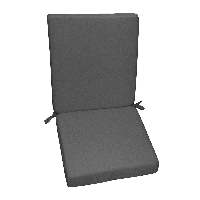Coussin d 39 assise de chaise ou de fauteuil gris zingu lola naterial ler - Leroy merlin coussin ...