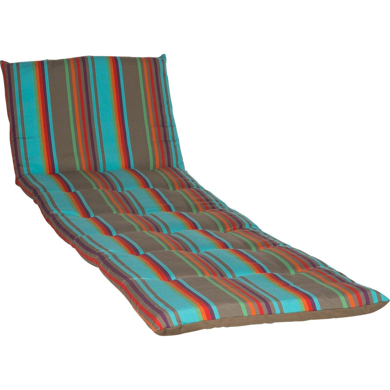 coussin de bain de soleil multicolore samba leroy merlin