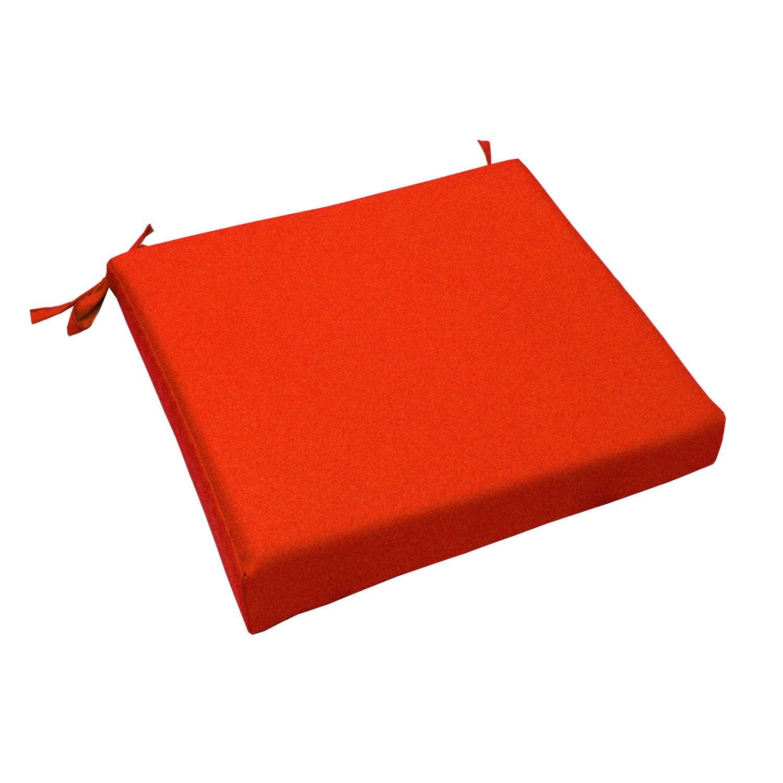 Coussin d 39 assise de chaise ou de fauteuil orange lola - Assise tabouret de bar leroy merlin ...