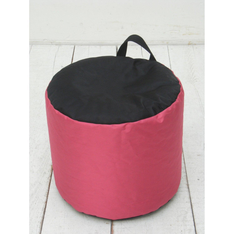 pouf de sol rose mini curl jardin prive leroy merlin. Black Bedroom Furniture Sets. Home Design Ideas