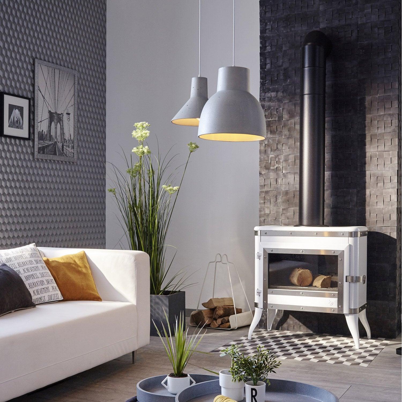 po le bois invicta tennessee blanc 6181 48 8 kw leroy merlin. Black Bedroom Furniture Sets. Home Design Ideas
