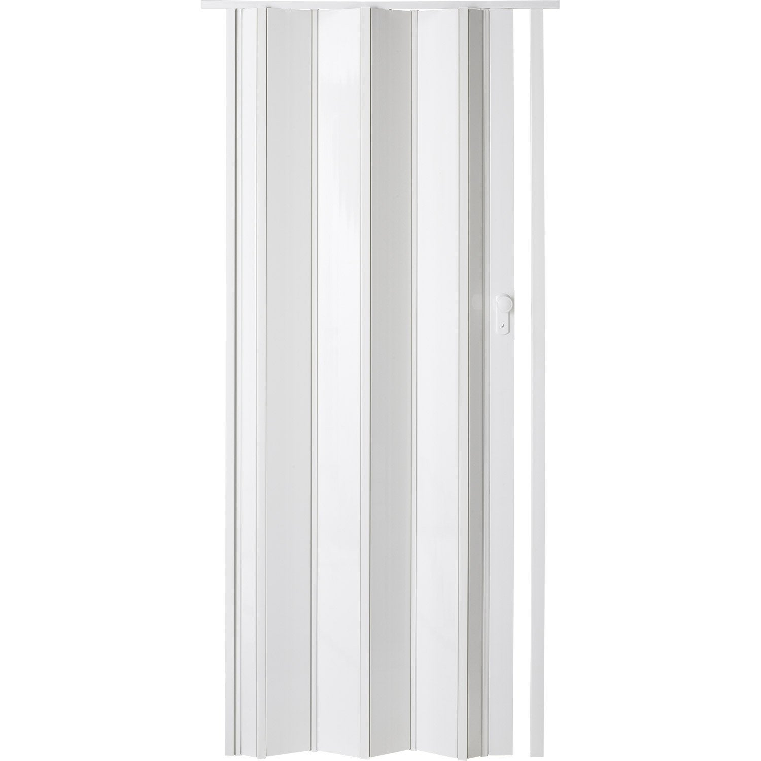 Porte extensible ibiza blanc brillant 205 x 85 cm pais d 39 une lame 10 - Porte accordeon ikea ...