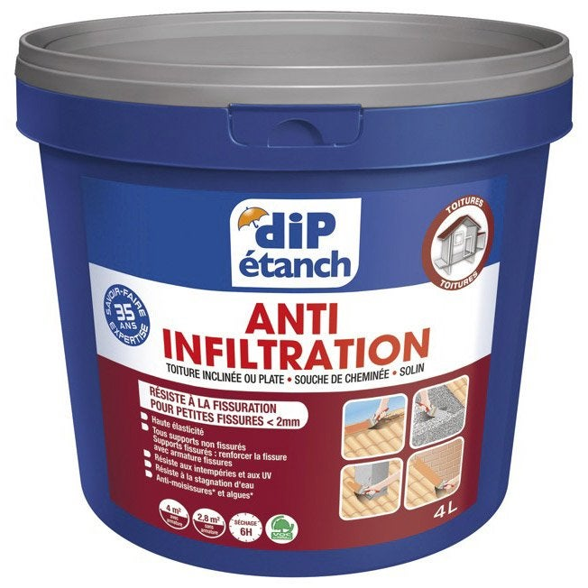 Rev tement d 39 tanch it toiture anti infiltration dip for Peinture sol exterieur etanche